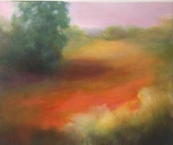 """Virginia Zelman, Meadow in Color, Oil on canvas, 20""""x24"""", $1,800"""