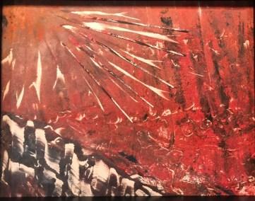 "Jacqueline Lorieo, Fire Rays, Monotype, 12""x14"", $300"