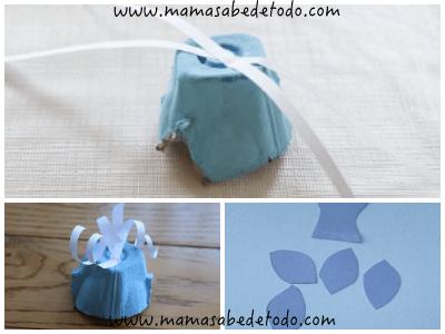 Tutorial con carton de huevo reciclado