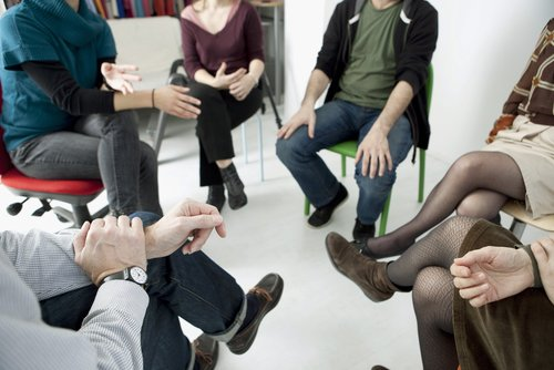 A group therapy session