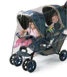 Tandem rain cover for stroller