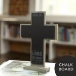 DaySpring Wooden Chalkboard Crosses on 50% Off Sale thru Easter