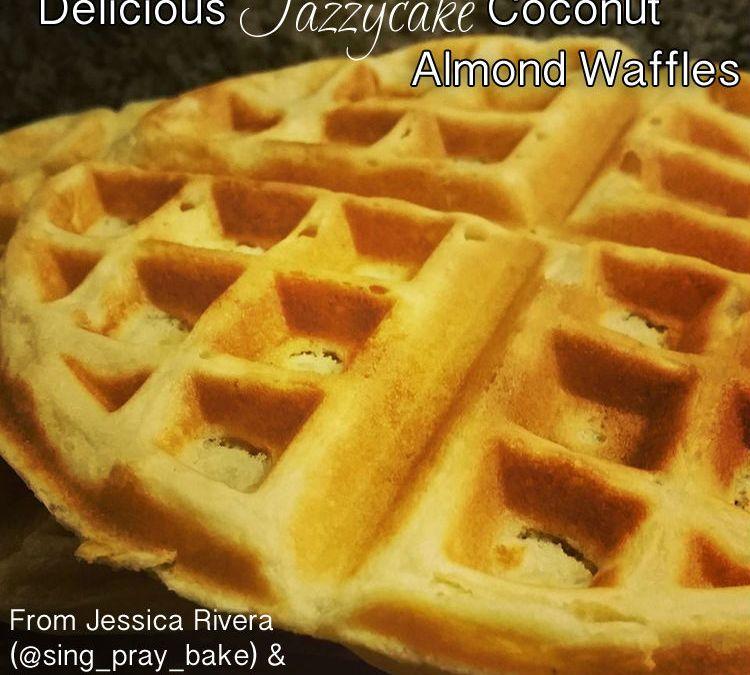 Delicious Jazzycakes Coconut Almond Waffles {Recipe}