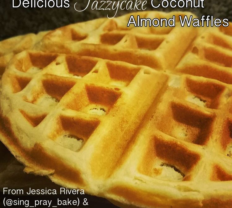Delicious Jazzycakes Coconut Almond Waffles {Recipe}