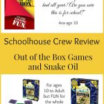 {Product Review} Snake Oil from Out of the Boxes Games for Family Game Night