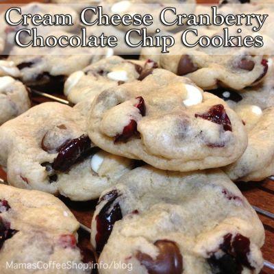 Cream Cheese Cranberry Chocolate Chip Cookies {Recipe}