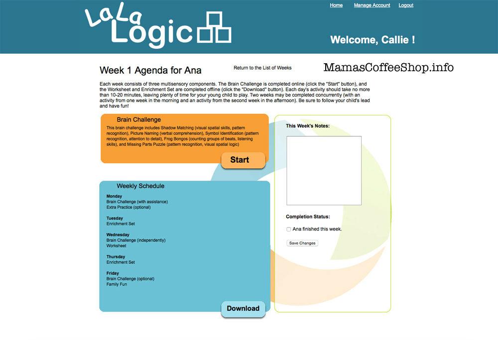 Mamas Coffee Shop La La Logic Weekly Break Down