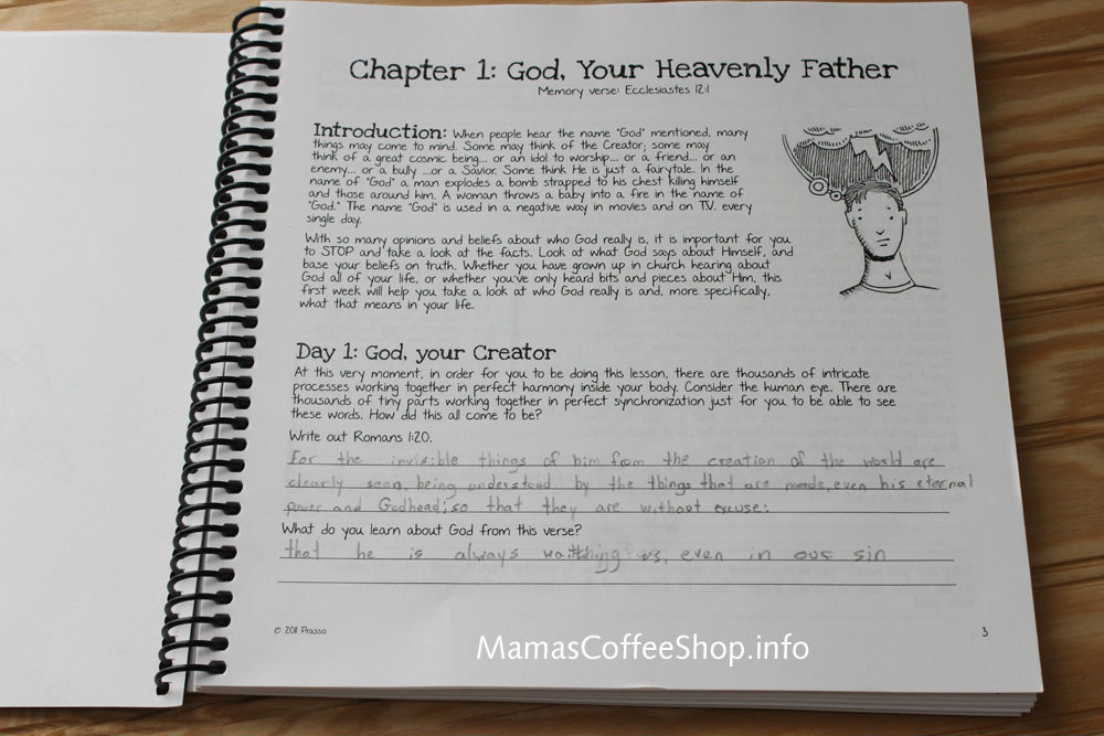 Mamas Coffee Shop | Teen Prasso Student Workbook (Journal) Bible Curriculum