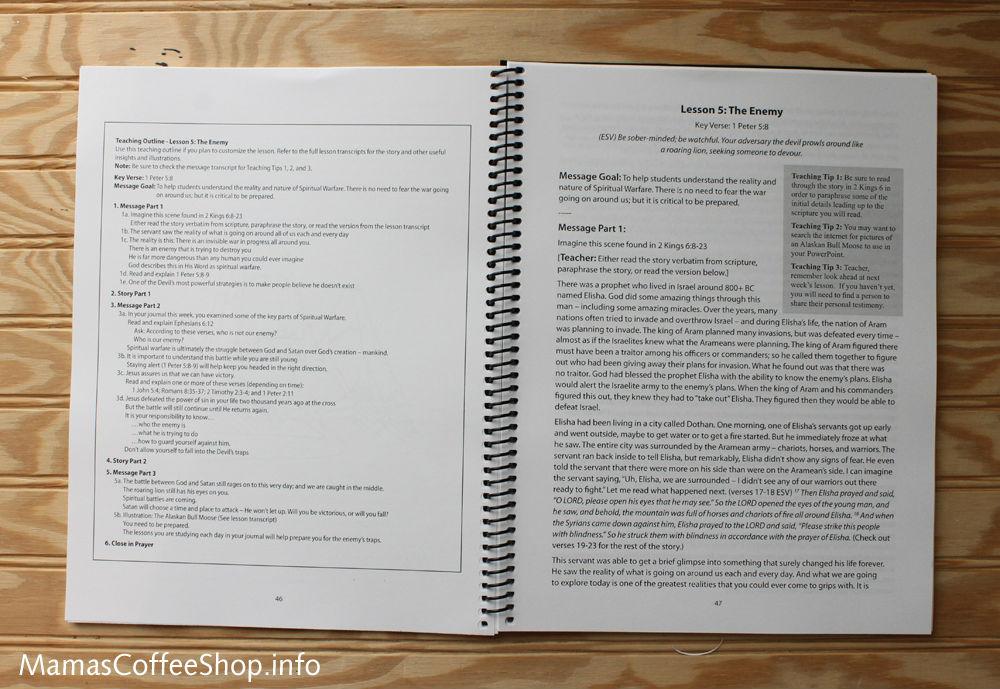 Mamas Coffee Shop   Teen Prasso Teaching Lessons Book - Bible Curriculum