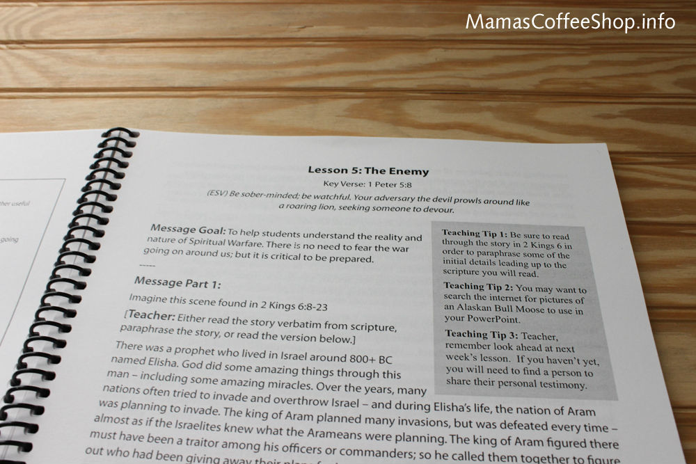 Mamas Coffee Shop | Teen Prasso Teaching Bible Curriculum