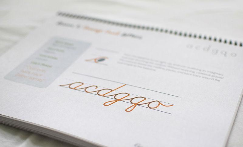 Workbook page from Cursive Logic | Mama's Coffee Shop