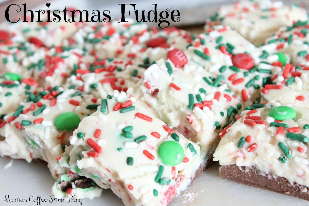 Christmas Fudge Recipe from Mama's Coffee Shop Blog