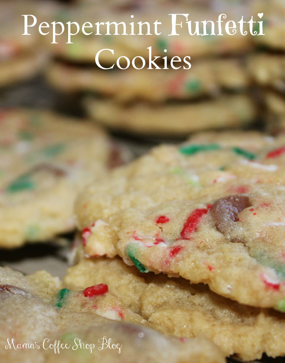 Peppermint Funfetti Cookies - Kid Approved Christmas Cookies