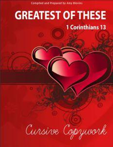Mama's Coffee Shop Blog - Homeschool Copywork - 1 Corinthians 13