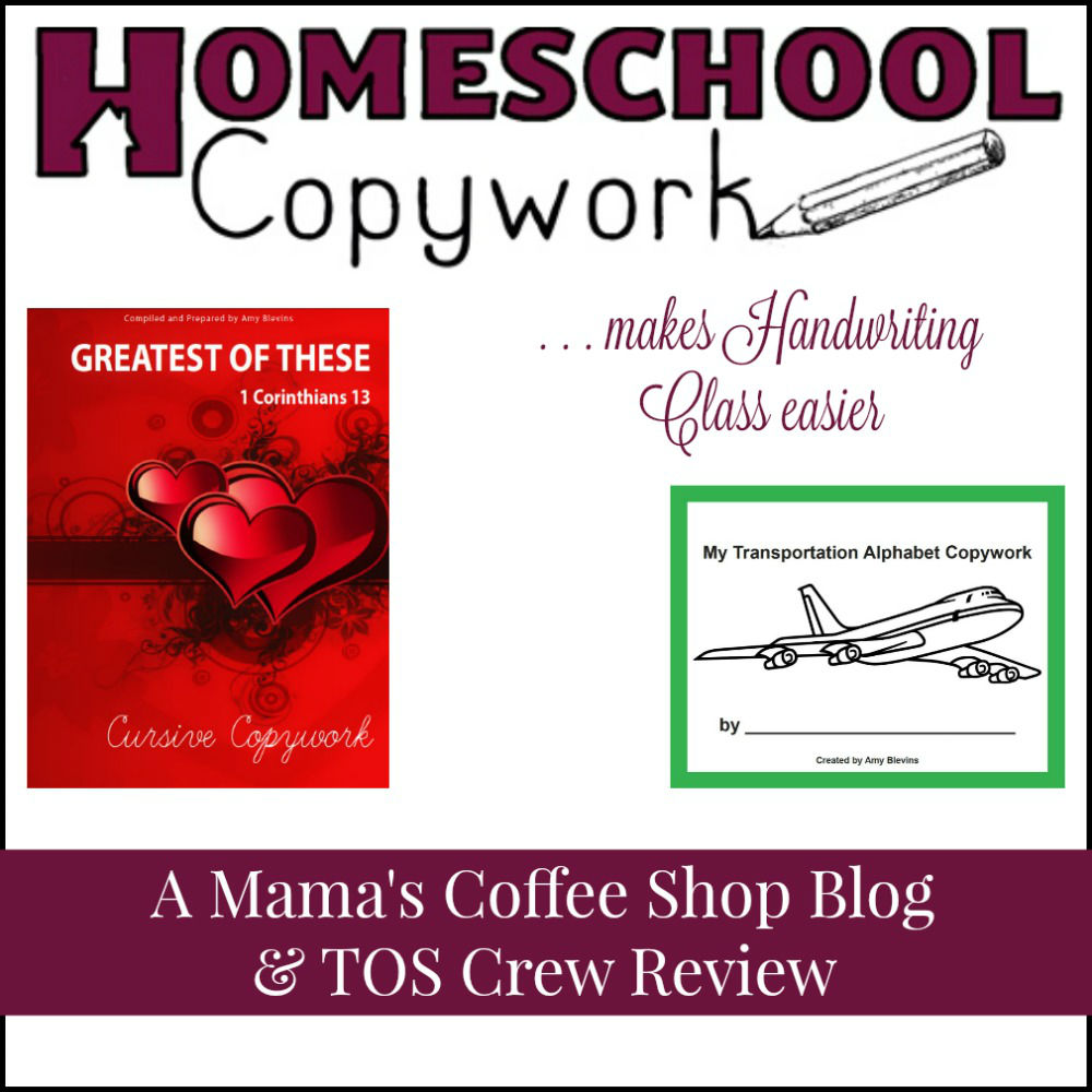Mama's Coffee Shop Blog - Homeschool Copywork
