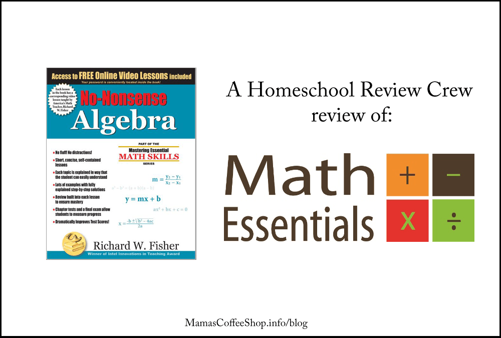 Homeschool Math like Algebra Doesn't Have to be Hard (Homeschool Review Crew)