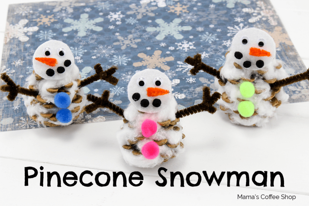 Pinecone Snowman Winter Craft