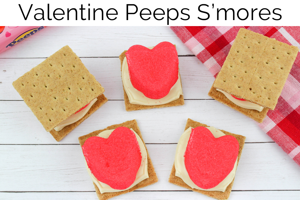 valentine peeps s'mores