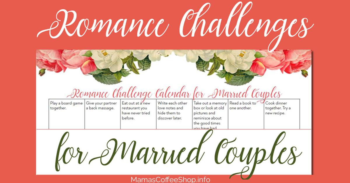 romance challenges calendar