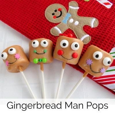 Gingerbread Man Pops