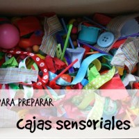 Cajas Sensoriales, una propuesta para niñ@s de 1 a 5 años