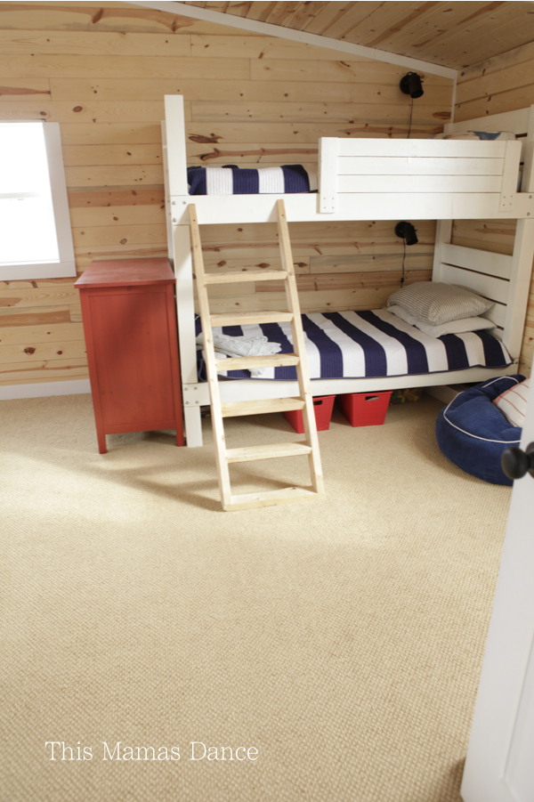 red white and blue kids room