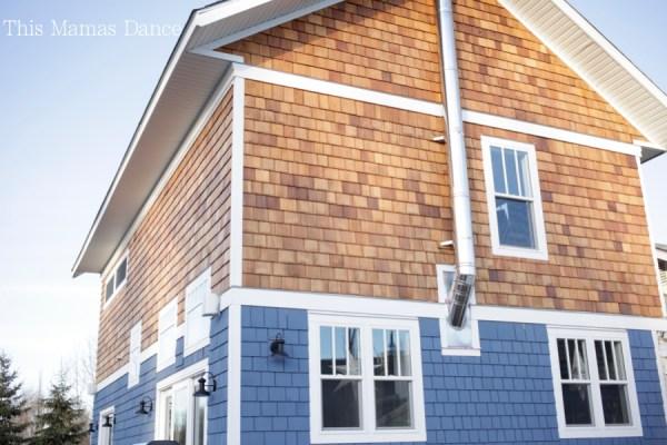 cedar siding blue and natural