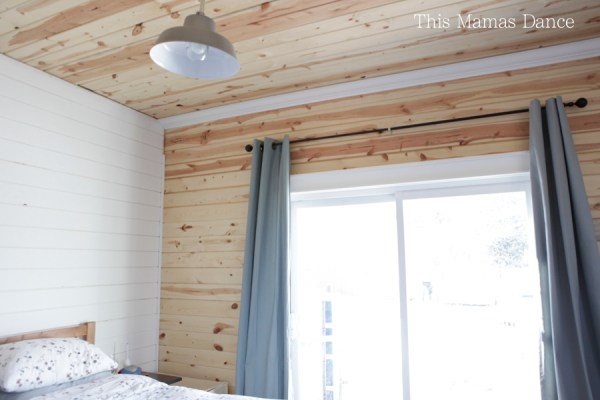 pine walls bedroom