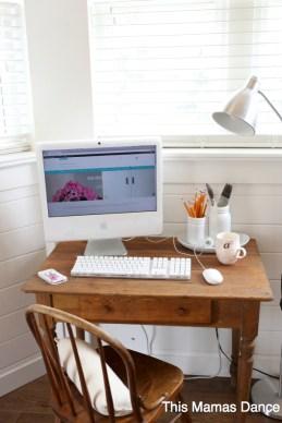 antique desk writing station