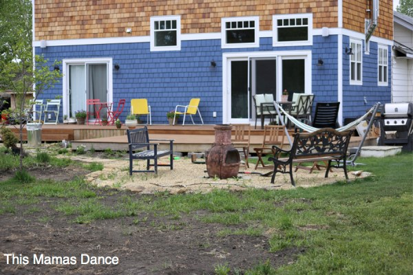 backyard garden before