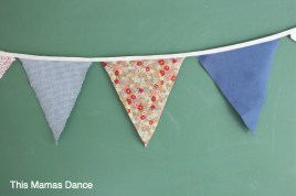 no sew scrappy bunting
