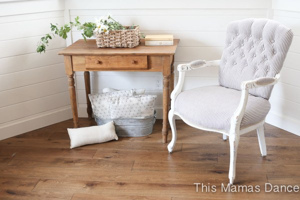 Ticking Chair Reveal, Farmhouse Chair Makeover