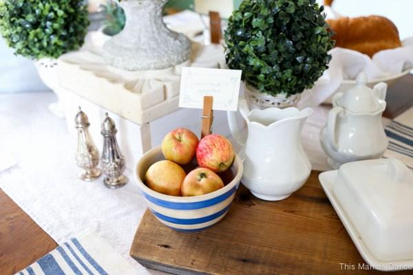 Farmhouse table Setting-5
