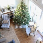 Blue, White and Green Christmas Living Room-3