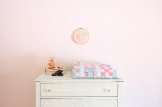 mint dresser, vintage quilt | This Mamas Dance-1