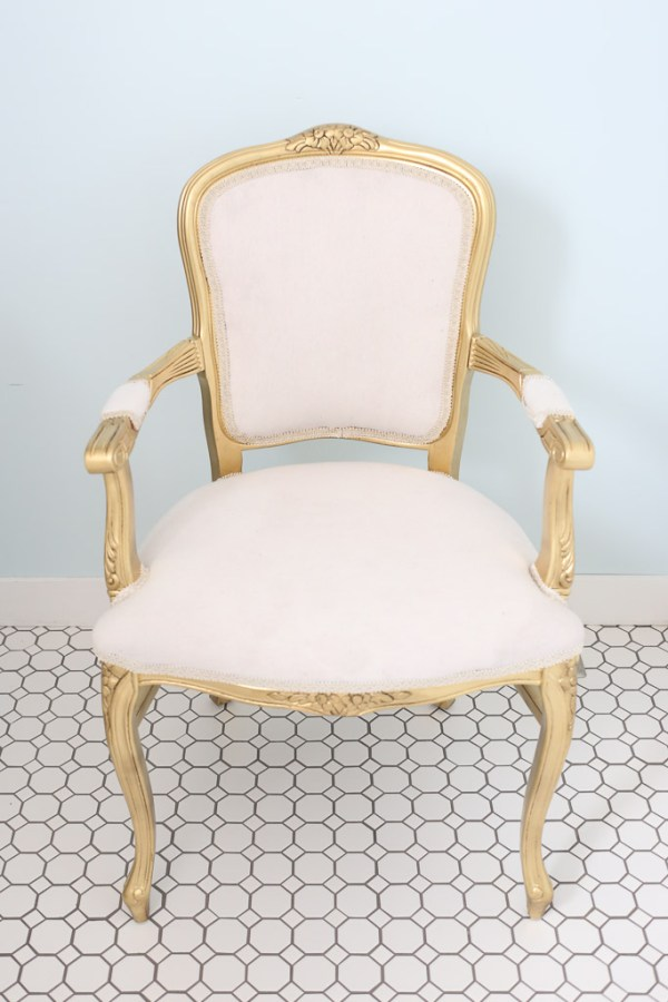French Chair with Bleached Drop Cloth Upholstery| This Mamas Dance-4