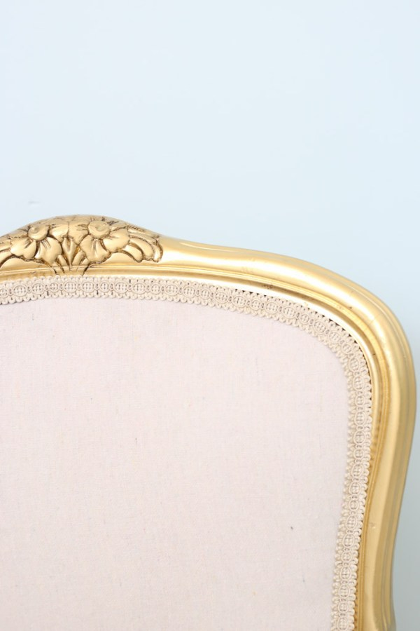French Chair with Bleached Drop Cloth Upholstery| This Mamas Dance-6