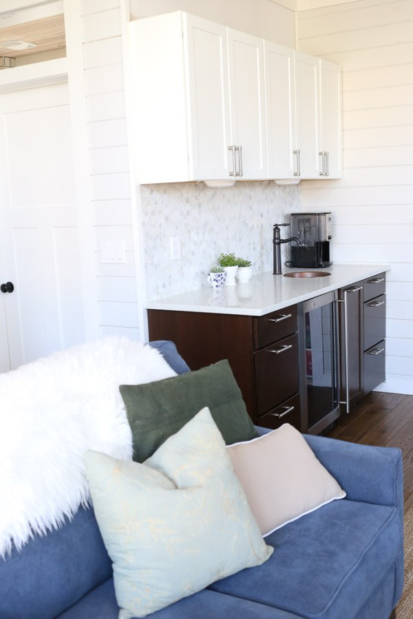 Two Tone Cabinets, Living Room Beverage Bar| Mamas Dance-1