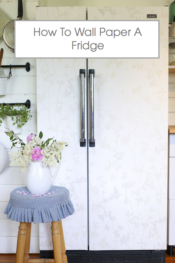 How To Wall Paper A Fridge via Ashlea of This Mamas Dance