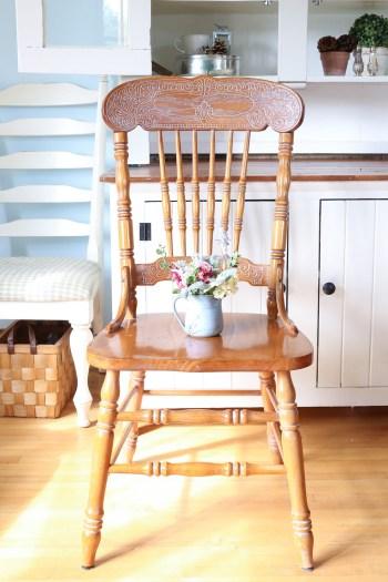 Press Back Chair, White Wax