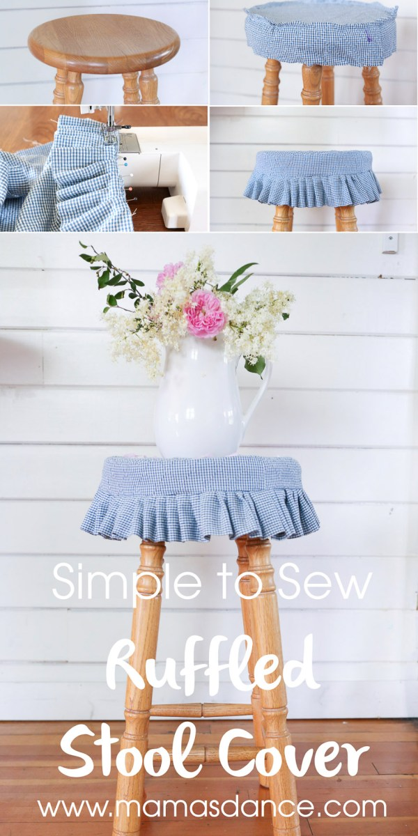 Simple to Sew Ruffled Stool Cover via This Mamas Dance-2