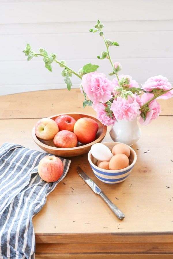 Fresh Apples, Pink Hollyhocks |This Mamas Dance-1