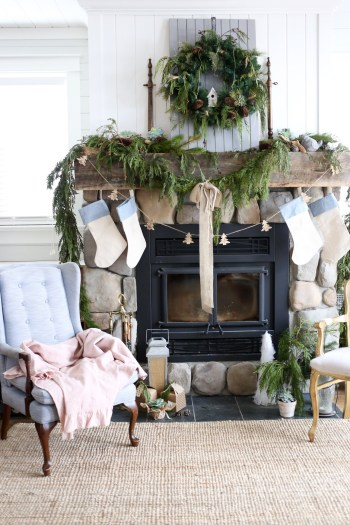 blue-and-cream-christmas-mantle-this-mamas-dance-8