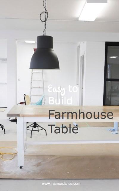 Easy to Build Farmhouse Table | via Ashlea of This Mamas Dance