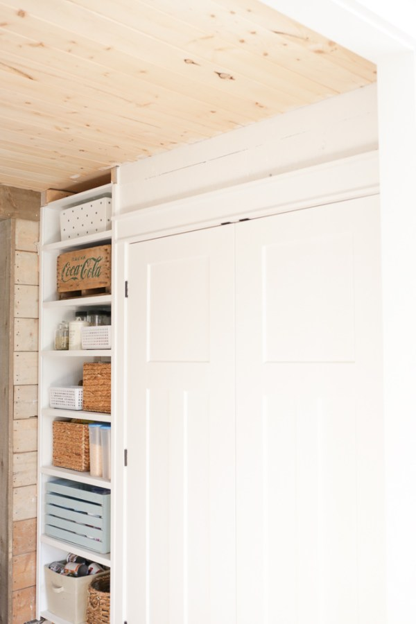 Laundry Room Closet | How to Frame double closet doors via Ashlea of This Mamas Dance