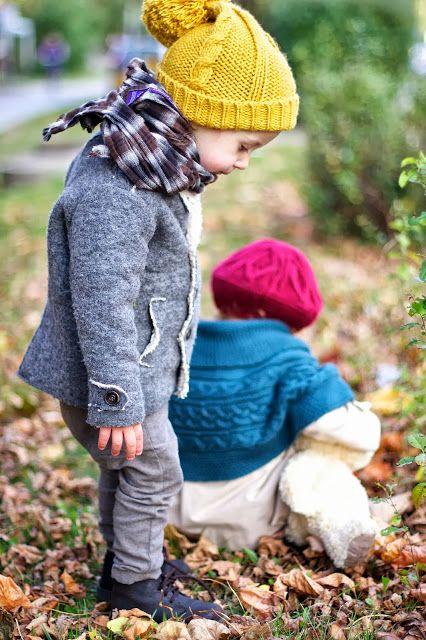 invierno moda infantil calor color