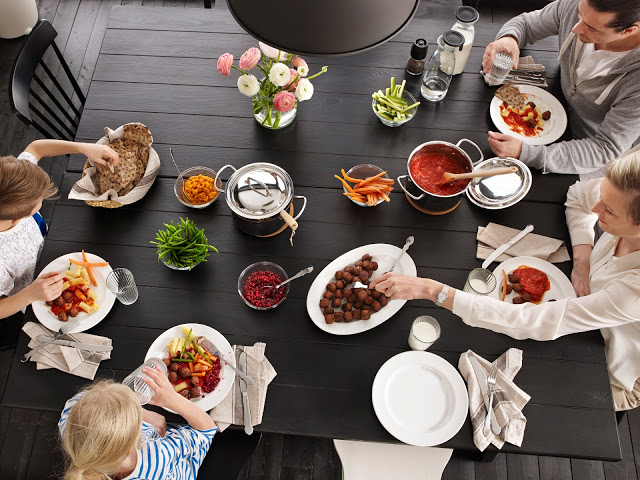 Ikea y la cena en familia