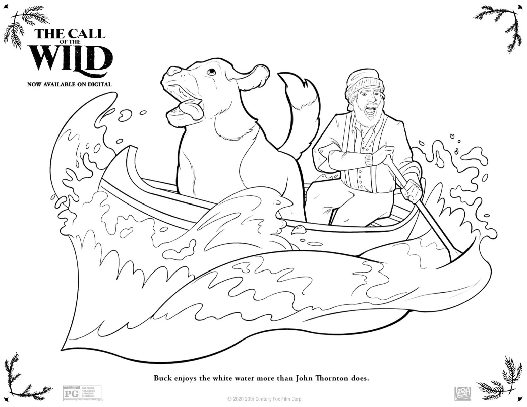 The Call Of The Wild Free Printable Coloring Pages