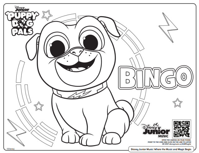 Free Printable Disney Junior Coloring Pages (+ Disney Music
