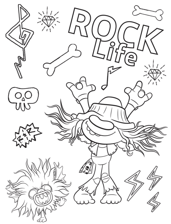 Free Printable Trolls World Tour Party Pack With Activity Coloring Pages